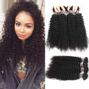 Ali Funmi 8A Brazilian Kinky Curly Hair Bundles (12 14 16 18) 100% Virgin Remy Kinkys Curly Weave Human Hair Extensions Natural Colour
