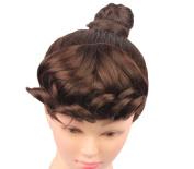 WeKen Women Hair Bang Short Curly 2 Clips Synthetic Dark Brown
