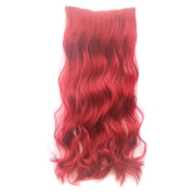ECOSCO Dip-dye Colour One Piece Gorgeous Long Curly Wave Clip in Hair Extension