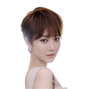 BESTLEE Synthetic Straight Attractive Short Wig with Bangs For Woman