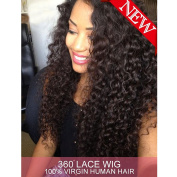 Dreambeauty 360 Lace Front Wig 180% Density Deep Wave Brazilian Virgin Hair 360 Lace Front Human Hair Wigs Pre Plucked Bleached Knots 360 Full Lace Human Hair Wigs for Black Women