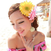 DZT1968(TM)Women Girl Bride Shoot Daily Beach Wedding Party Big Daisy Flower Headwear Hair Pin With Clip