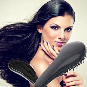 Garrelett Detangling Brush, Paddle Wet Shower Bath Hair Brush Beauty Styling Care Hair Comb - No More Tangle - Adults & Kids Black