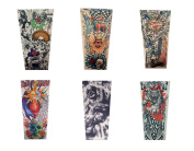 Efivs Arts Xt Series Temporary Fake Tattoo Arm Sleeves Leg Stockings Accessories for Men Women 6 Pcs