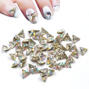 10pieces Charming Crystal Big Size Nail Art Diamond Sharp Botton 6mm Triangle Nail Rhinestone Diy Nail Salon Beauty Decoration