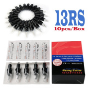 Solong Tattoo Disposable Tattoo Needle Cartridges Spring Drived Round Shader (RS) 10pcs/Box EN03-13RS