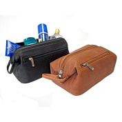 Royce Leather Colombian Leather Toiletry Bag