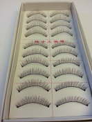 HiiBaby® 10 Pairs High Quality Taiwan Long Natural Handmade Cross Charming Natural Soft False Eyelashes Makeup #216