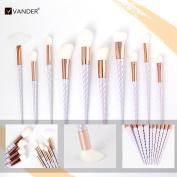 Vander Fashionable Professional Makeup Brushes Super Soft Oval Toothbrush Makeup Brush Set Foundation Brushes Contour Powder Blush Concealer Eyeliner Brush Cosmetics Tool (Unicorn 10pcs