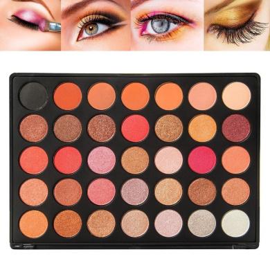 Miskos 35 Colour Eyeshadow Palette Make up Pallete Natural Glow Colour Shimmer Matte Beauty Makeup Eye-shadow Set