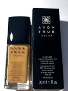 Avon True Colour Flawless Liquid Foundation SPF 15 Sunscreen Sable