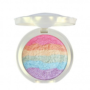 FantasyDay Pro 6 Colours 3D Baked Rainbow Highlighter Eyeshadow Makeup Palette Cosmetic Blusher Shimmer Powder Contouring Kit