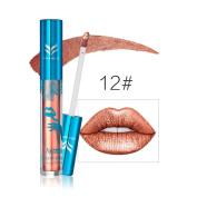 Aurorax Women New Holographic Lip Gloss Metallic Diamond Lasting Lipstick Shine Halo Glam