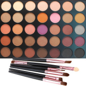 35 Colour Eyeshadow Palette with 6 PCS Eye Brushes, Vodisa Makeup Matte and Shimmer Eye Shadows Smoky Warm Colour Glitter Kit Make Up Brush Set Waterproof Beauty Cosmetics High Pigment Powder Pallet 35W
