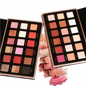 Focallure Beauty Glazed 18 Colours Metallic Rose Gold Eyeshadow Palette Dual use for Face and Eyes