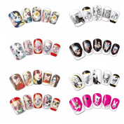 C-Pioneer 24 Types Halloween Nail Art Stickers Nail Decal Supplies