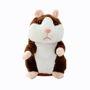 Talking Hamster Plush Toys, HUHU833 Adorable Mimicry Pet for More Than 6Years Old Record Speak Voice Copy Electronic Mouse Toy Best Gift