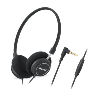 EasySMX M110 Lightweight On-Ear Music Headphone Stylish Fabric Design In-line with Microphone and Volume Control for PC/Smartphones/MP4/MP3 3.5mm Plug
