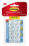 Command Decorating Clips, Clear, 40-Clip, 4-Pack