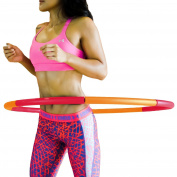 Fitness Hula Hoop by Healthy Model Life - Includes 'Hula Hoop at Home' by Rachael Attard USB Training Video - Easy to Spin, Premium Quality and soft padding Hula Hoop