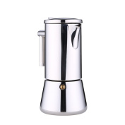 stainless steel European style Mocha pot Silvery Coffee Pots-B