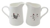 Jersey Pottery Wacky Chicken Small Jug, White