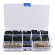 "HALJIA 620pcs 2.54mm/0.1"" Dupont Crimp Pin Connector Pin Header Wire Jumper and M/F Crimp Pins"
