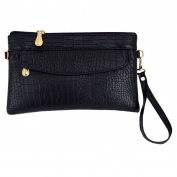 LA HAUTE Pu Leather Wristlet Handbags Small Shoulder Bags Phone Wallet Clutch Crossbody Bags
