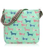 Womens Canvas Dogs Print Messenger Fashion Cross Body Bag Ladies Handbag