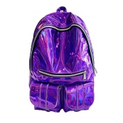 ZJENE Women New Fashion Laser Bright Package College Travel Backpack Bag