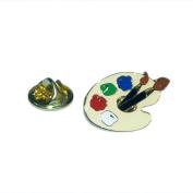 Artists Pallet Lapel Pin Badge