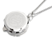 F.Hinds Womens Jewellery Sterling Silver Sos Talisman Pendant And Chain Gift Box