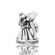 Uniqueen Wedding Forever Together Charm Beads Fit Chamilia Charms Bracelet Gifts
