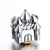 Princess Disney Castle Silver Bead Fits Pandora Chamilia Etc Sterling Charms Bracelets Necklaces