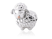 Clogau Beads Womens Silver And 9ct Rose Gold Lamb Milestones Bead Charm
