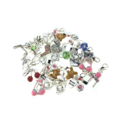 Job Lot Wholesale 25 x Charms Beads For Thomas Sabo Multilink Style Bracelet Lobster Clip Jewellery Making