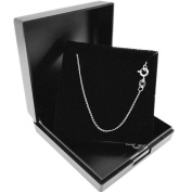 Genuine 925 Sterling Silver Curb Chain Necklace with Gift Box