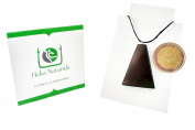 Trapezium Shungite Pendant Necklace Natural Stone Chakra Crystal Healing Energy Karelia Russia