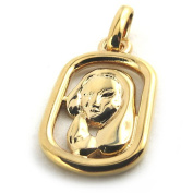 Pendant gold plated 'Lion'.