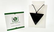 Reverse Triangle Shungite Pendant Necklace Natural Stone Chakra Crystal Healing Energy Karelia Russia