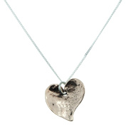 7 Year Anniversary Off-shaped Hammered Copper Heart Pendant - 7 Year Anniversary Gift Idea
