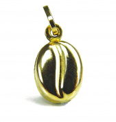 9ct Yellow Gold Coffee Bean Pendant / Charm
