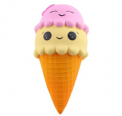Anboor 23cm Squishies Jumbo Slow Rising Kawaii Cute Squishies Ice Cream Cone Cake Scented of Decompression Toys 1 Pcs