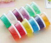 Silly Putty, GOODCULLER Clay Slime DIY Non-toxic Crystal Mud Play Transparent Magic Plasticine Kid Toys