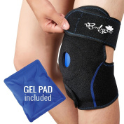 Ice Pack for Knee | Knee Support Brace with Gel Pad for Hot and Cold Therapy