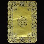25cm x 37cm Rectangle Gold Foil Doilies
