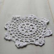 Factory Direct Craft® Package of 12 Hand Crocheted Round White Doilies - 100% Cotton- 15cm Round Diam.
