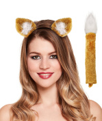Fox ears on headband and tail Roald Dahl book character costume accessories