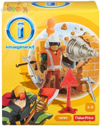 Fisher Price Toy - Imaginext City Rescue Construction Worker Figure with Giant Drill Playset