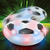 Air Power Light Up Hover Soccer Disc Multi-surface Hover and Gliding Ball Disc Toy